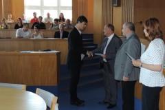 Předávání maturitních vysvědčení 4U4M 5.6.2015