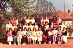 Společné foto 3.B 1988