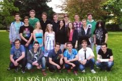 Společné foto třída 1.U 2014