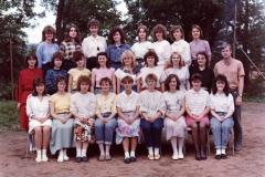 Společné foto třída IV.A 1989