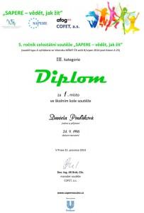 Diplom - Sapere - Daniela Pinďáková