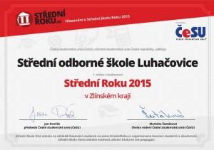 Střední roku 2015 ve Zlínském kraji